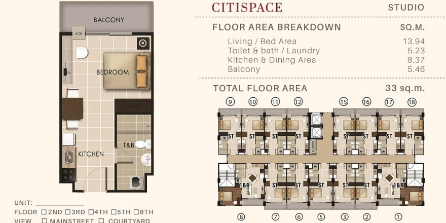 Properties Online Philippines – 33 20 sqm Valenza Mansions